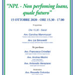 Non performing loans, quale futuro? Velletri 15/10/2020